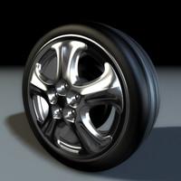 unique wheel tire 3d model