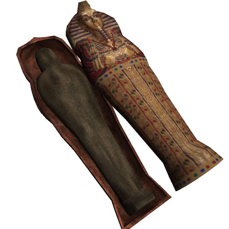 ian sarcophagus mummy 3d model