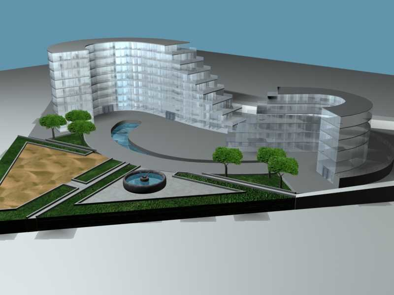 3d model of apartment complexes