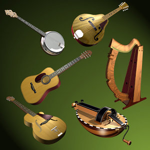 3d music instrument model