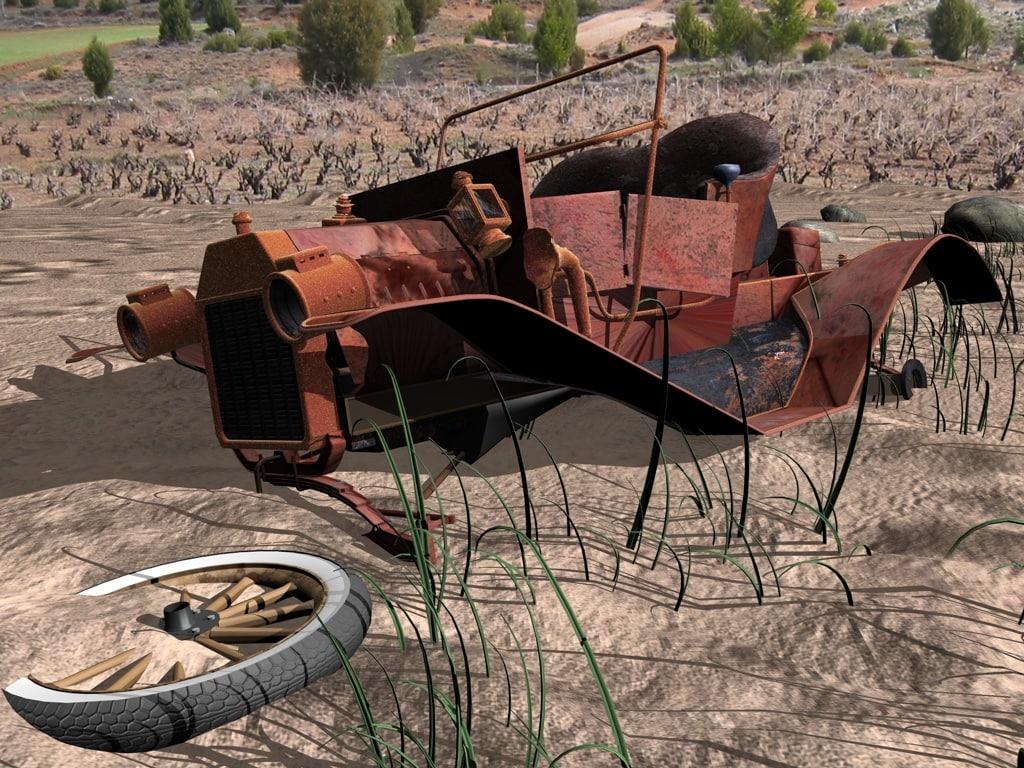 wreckage junk 3d model