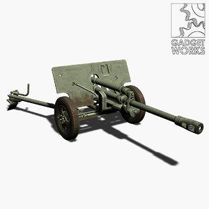 zis 3 gun 3d model