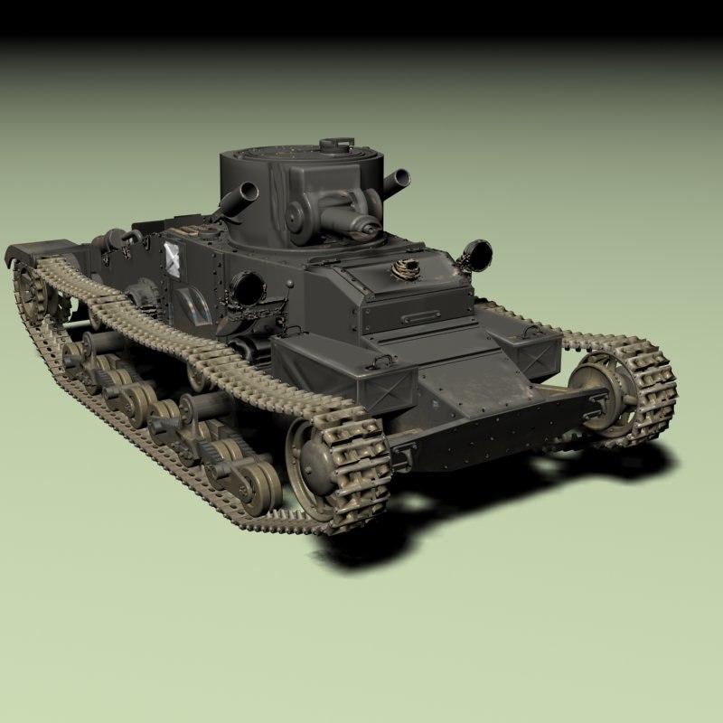 3d model matilda infantry tank