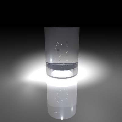 cup water glass 3d model