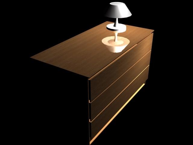 free max mode wood dresser
