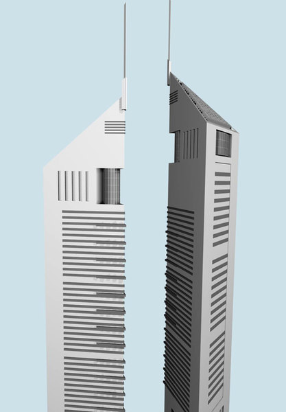 3d model building dubai tower