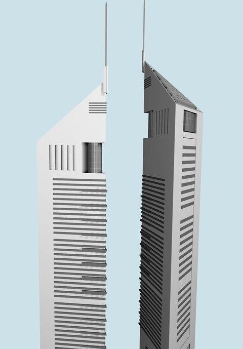 3d model building dubai tower