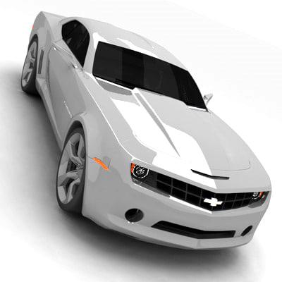 2009 camaro concept car 3d model