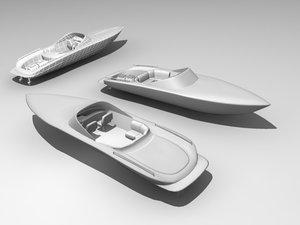 sport boat 3d max