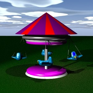 3d model of fair ride