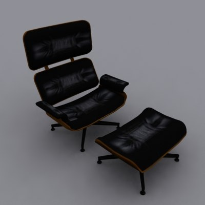 3ds max eames lounge chair