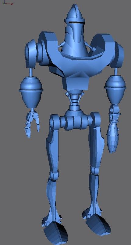 3d model robot weapon