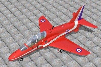 3d bae hawk jet model