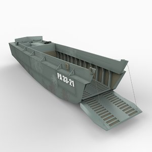 higgins boat lcvp 3d model