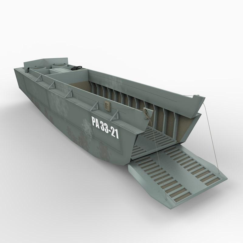 higgins boat lcvp 3d model