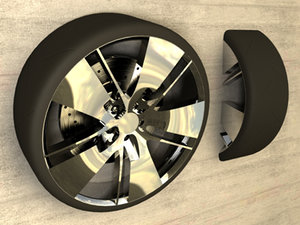 drift wheel rims tire 3d max