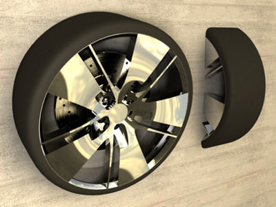 drift wheel rims tire 3d max