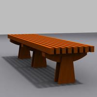 park bench 01 model