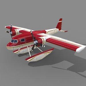 3d seaplane plane