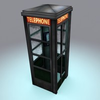 medium phone booth 3d max
