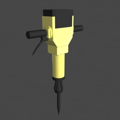 3d jack hammer jackhammer model