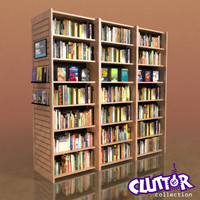 Furniture-Bookcase - Large Library 001