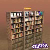 Furniture-Bookcase - Small Library 001