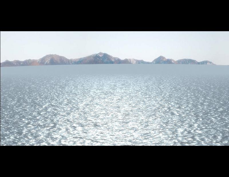 realistic sea 3d model