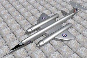 bristol jet 188 3d model