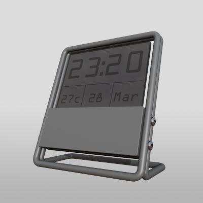3d model modern clock zipped