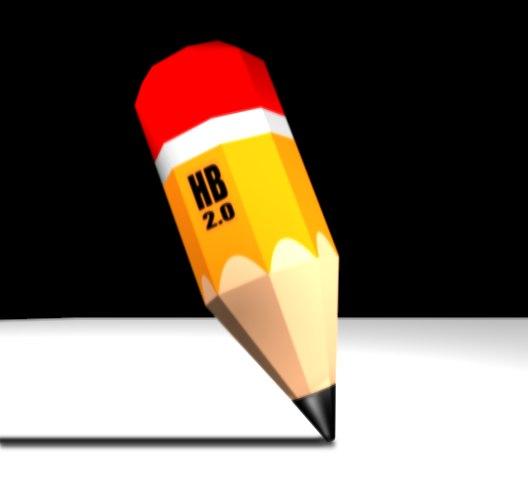 3d cartoon pencil