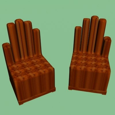 3d model chair gothic
