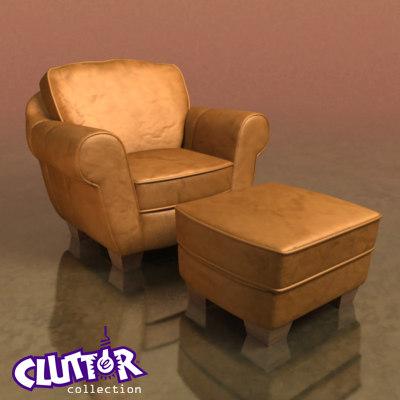 reading chair 3d model