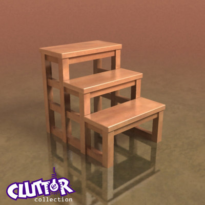 3d designer step stool model