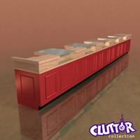 Utility Unit-Checkout Counter 001