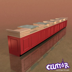 3d superstore checkout counter
