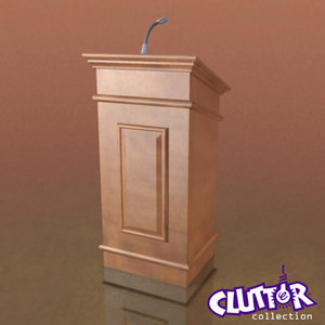 podium microphone book obj