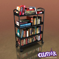 Utility Unit-Rollaway Book Return Cart 001