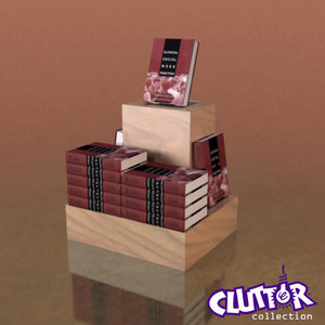 3ds max book pedistal