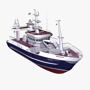 3d model ship commercial boat