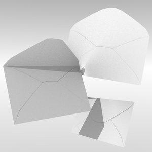 envelope paper letter 3d obj