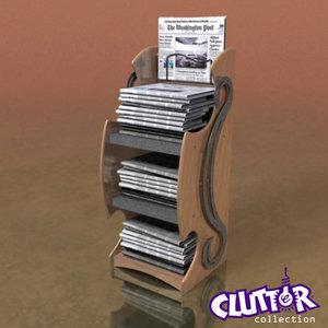 lwo newspaper rack