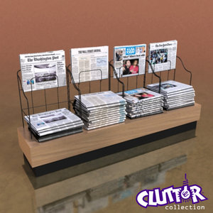 3d model newspaper rack