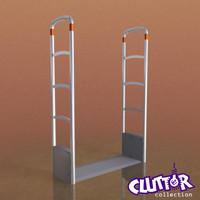 theft pedestal clutter 3d model