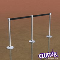 3d stanchion rope clutter
