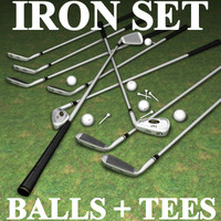tnt iron golf set 3d model