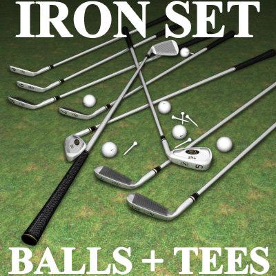tnt iron golf set 3d model