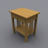 3d end bedside table model