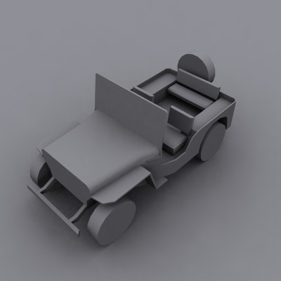 wwii jeep 3d max
