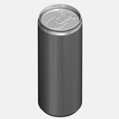 3d canned tin model
